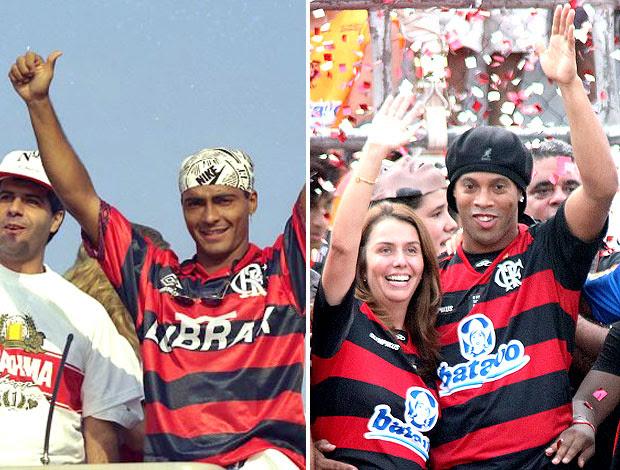 montagem Romário Ronaldinho Flamengo