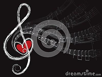 Notas do amor e da música do triplo