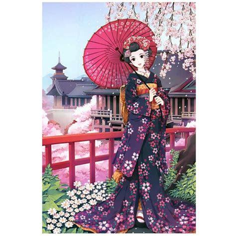 sakura girl fashionable wooden puzzle  adult