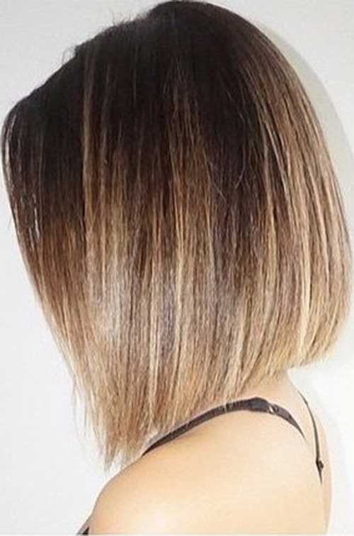 Light Brown Ombre Short Hair Straight
