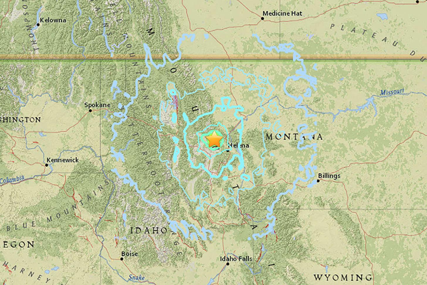 Montana Earthquake Map