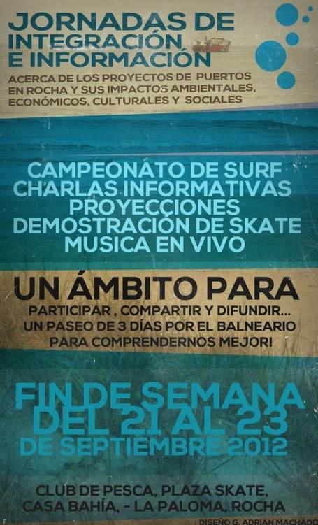Uruguay /La Paloma /Jornadas de Información  Proyectos de Puertos en Rocha y sus impactos 21/23 Setiembre | MOVUS | Scoop.it