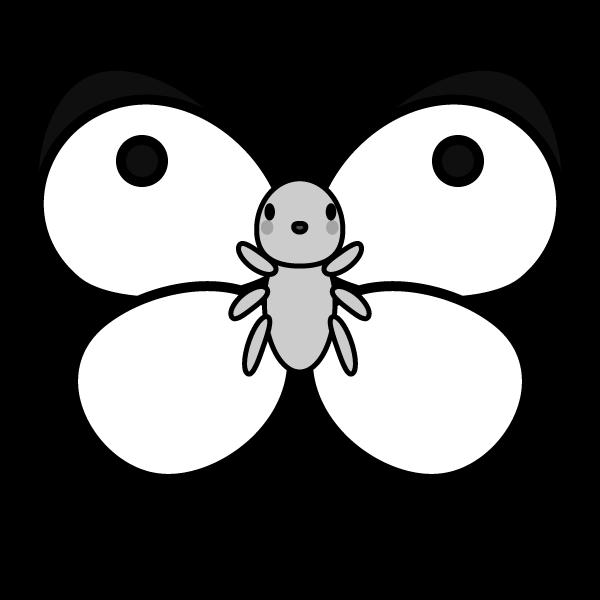かわいいモンシロチョウの無料イラスト商用フリー オイデ43