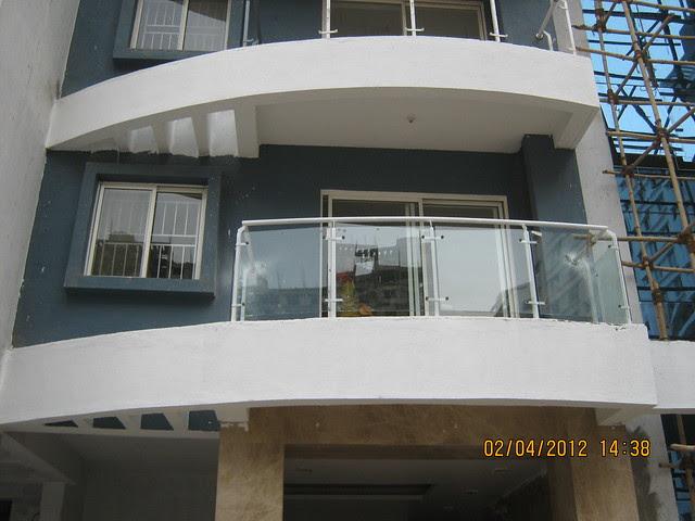 Sparklet - Megapolis Smart Homes 1, Hinjewadi Phase 3, Pune 411057 - balcony with glass railings