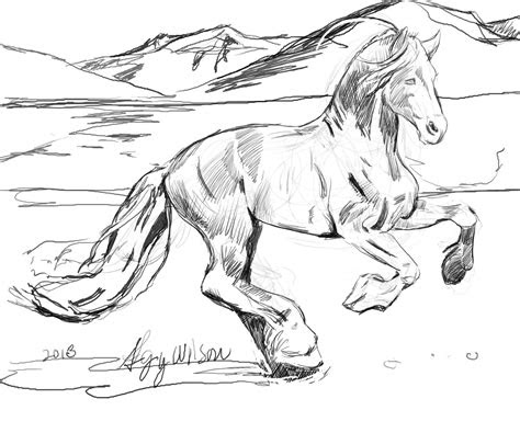 horse herd coloring pages  getcoloringscom