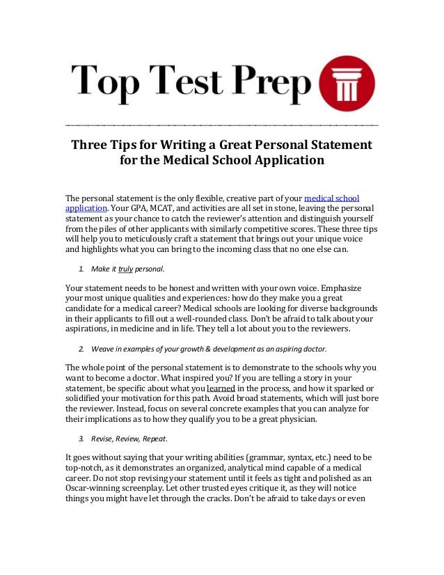 how to write a great personal essay for college application