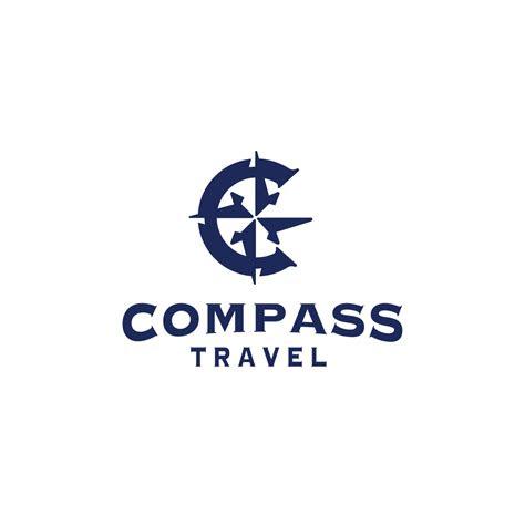 sold compass travel letter  logo design logo cowboy