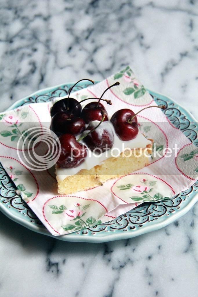 dessert - cherry almond mascarpone tart