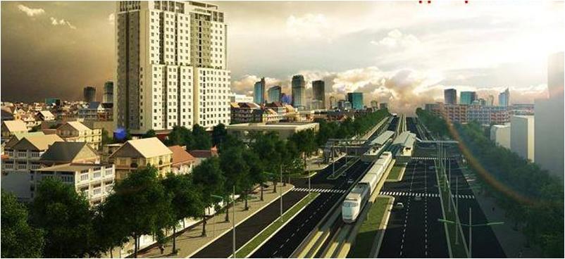 Tuyến tàu cao tốc trên cao Nhổn - Ga Hà Nội