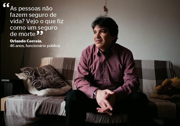 Orlando Correia, 46 anos, funcionário público (Foto: Francois Wavre/Rezo/Polaris/ÉPOCA)