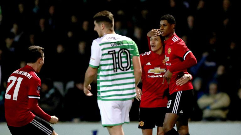 Image result for yeovil vs manchester united