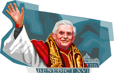 Image result for pope benedict clip art images