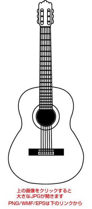 アコースティックギターとクラシックギターのイラスト タイガー