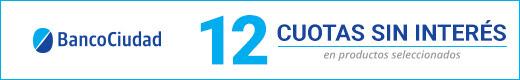 BANCO CIUDAD:12 CUOTAS SIN INTERÉS EN SELECCIONADOS