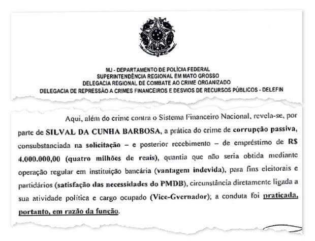 BOAS RELAÇÕES O governador de Mato Grosso, Silval Barbosa, entrega em 2013 uma medalha de honra ao mérito ao ministro e conterrâneo Gilmar Mendes. O governador é acusado de corrupção pela PF (ao lado) num inquérito que corre no Supremo (Foto: Reprodução)