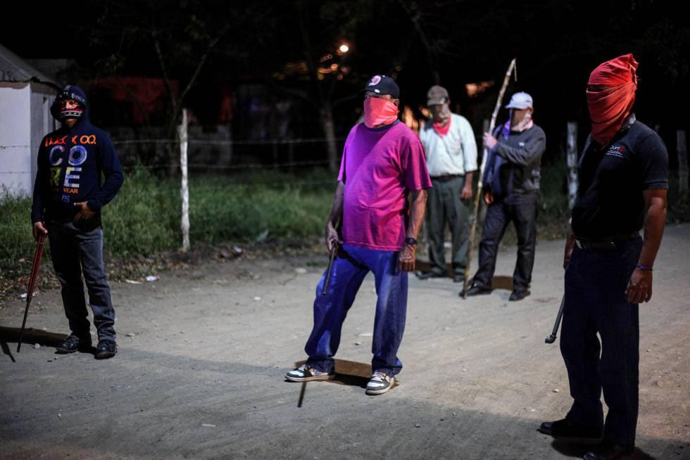 Autodefensas en Piedras Negras, Veracruz, cuando se alzaron en 2013.