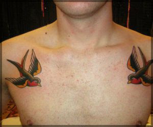 Birds Freedom Tattoo On Back Shoulder