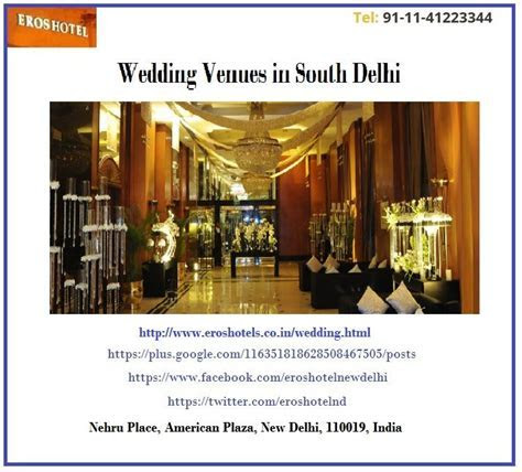 Best Wedding Venues in Delhi NCR   Eros Hotels lists wide