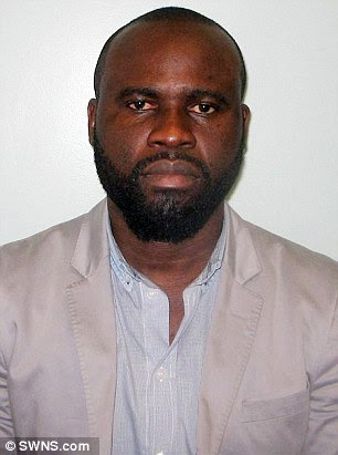 Robinson Agbonifoayetan, pictured, has been jailed after swindling more than £300,000 from two women who thought he was an American diplomat