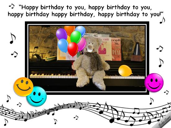 Singing Birthday Bear Free Smile Ecards Greeting Cards 123 Greetings