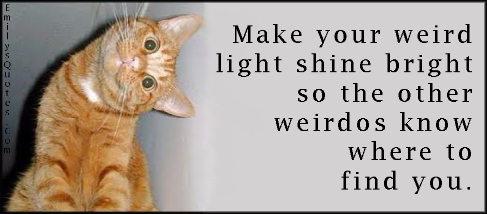 Make Your Weird Light Shine Bright So The Other Weirdos Know Where