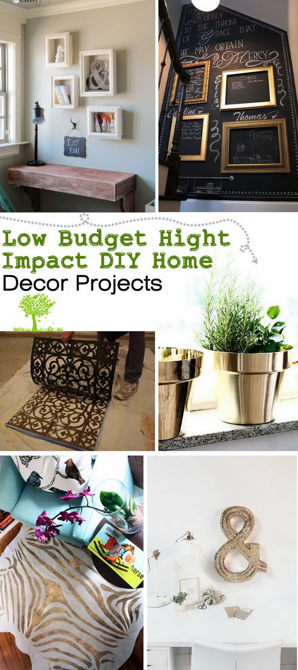 Low Budget Hight Impact DIY Home Decor Projects - Noted List