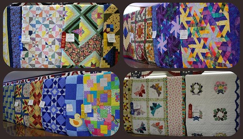 Fair quilt displays