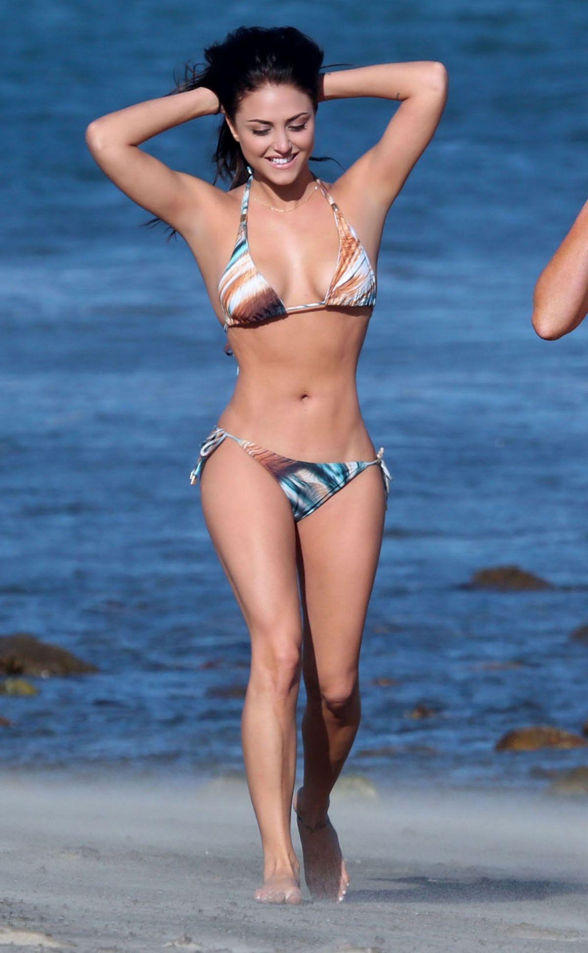 CASSIE SCERBO in Bikini on the Beach in Malibu
