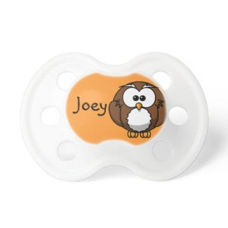 Funny Personalized Owl Pacifier