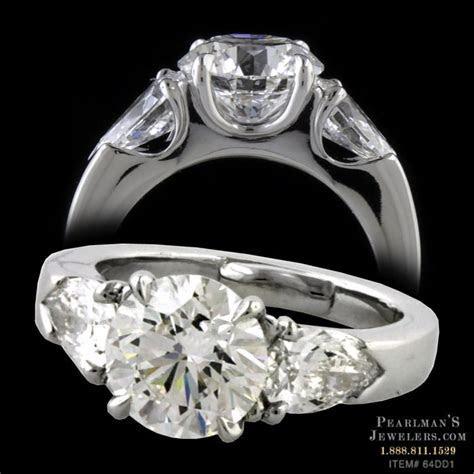 Michael Bondanza Platinum 3 Diamond Engagement Ring