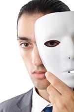 Sociopath behind mask.