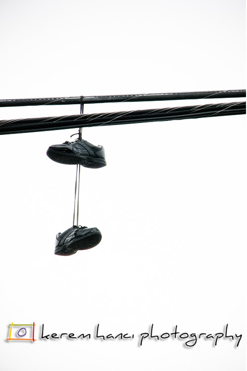Shoes over the power lines...