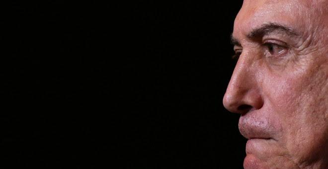 El presidente de Brasil, Michel temer, habla a la audiencia en la Conferencia del Acero de Brasil /REUTERS (Adriano Machado)