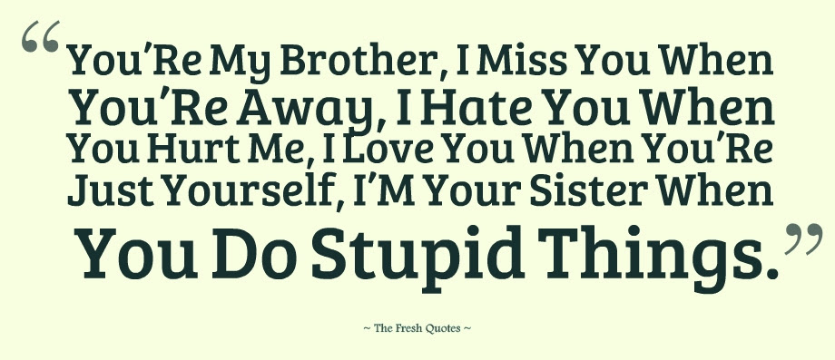 Quotes About Hating Your Brother 19 Quotes