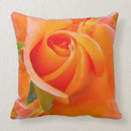 Orange Rose by Alexandra Cook throwpillow