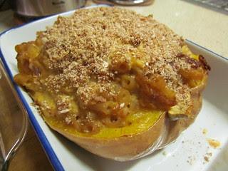 Macaroni and Cheese Stuffed Butternut Squash