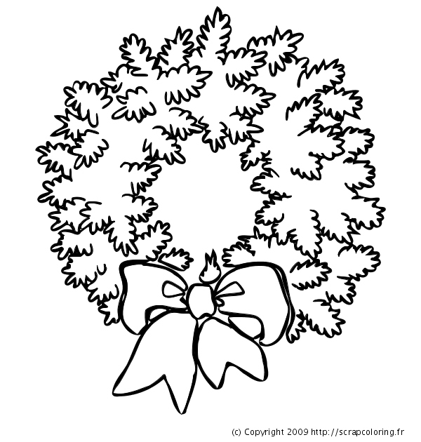 Coloriage Couronne De Noël En Sapin