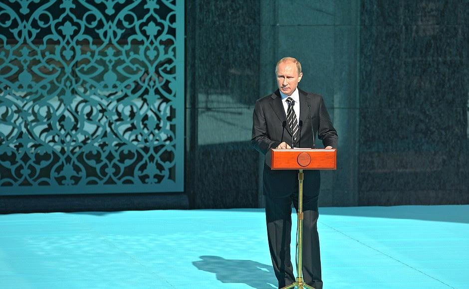 Выступление наоткрытии Московской соборной мечети после реконструкции.