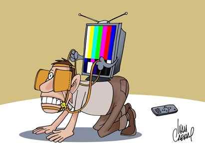 Resultado de imagem para mídia podre charge