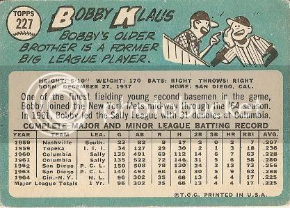 #227 Bobby Klaus (back)