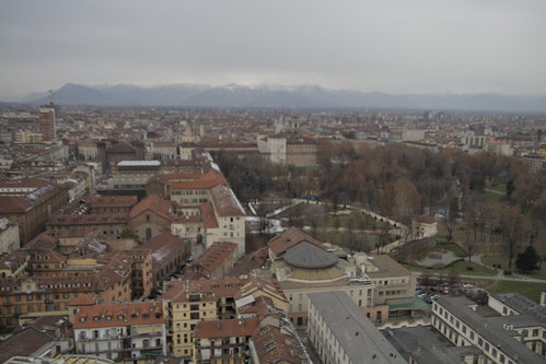 View of Torino from observation deck 2
