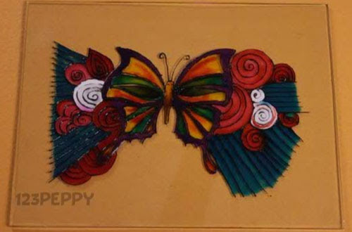How To Make A Butterfly Glass Painting Online 123peppycom