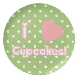 I Heart Cupcakes - Plate plate
