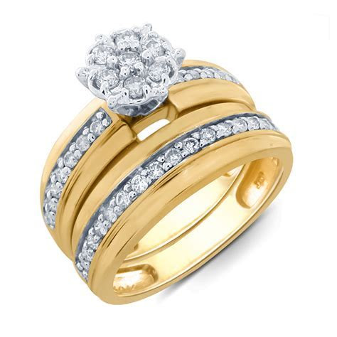 Tradition Diamond 10K Yellow Gold 1/2 CTTW Certified