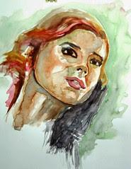 attempt to a watercolour portrait