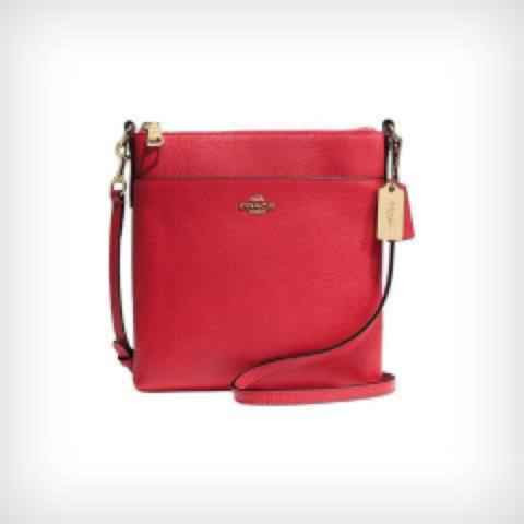 Coach North/South Crossbody in Embossed Textured Leather