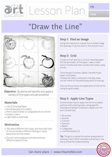 drawing    hs lesson plan   art  ed