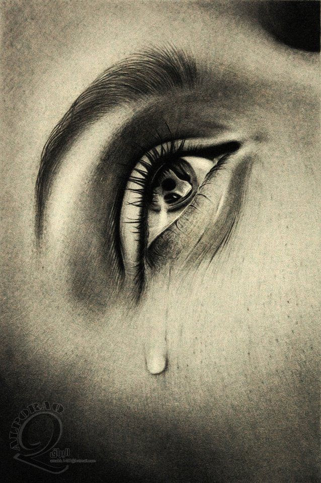 Sad Eyes With Tears Drawing At Getdrawingscom Free For Personal