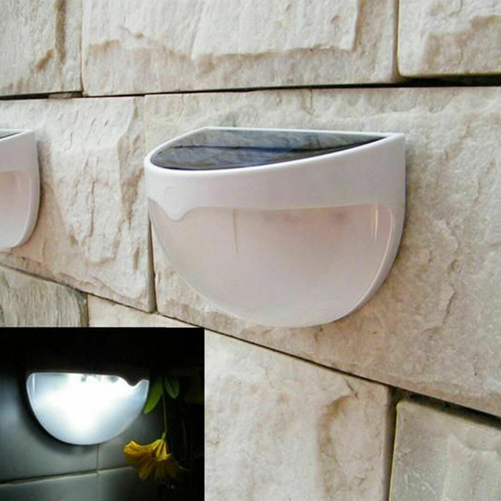 Outdoor Solar Power 2LED Path Yard Wall Landscape Garden Gutter Fence Light Lamp  eBay
