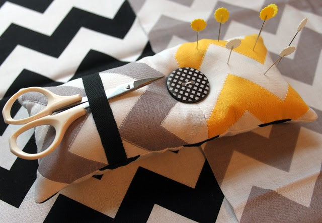 Quilted Chevron Pin Cushion